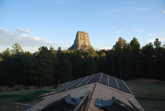 Devils Tower Lodge: view from franks roof after a hard days work