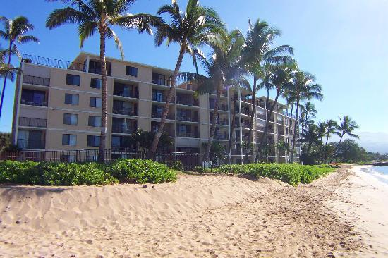 Kihei Beach: Looking at KBR from the water