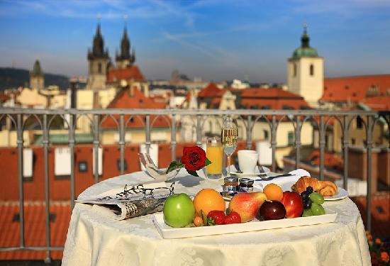 Roof terrace picture of grand hotel bohemia prague for Grand hotel bohemia prague reviews