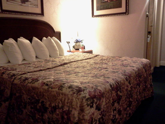 Fireside Inn & Suites: Here's a quick cell phone photo of the room.