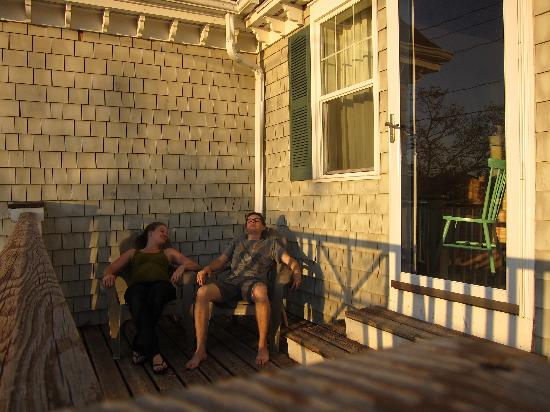 The Inn on Peaks Island: Our porch/deck