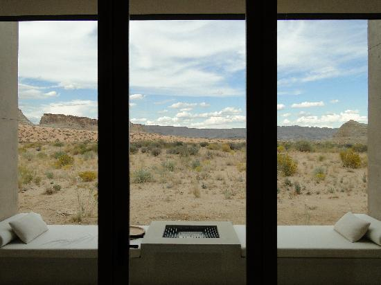 Amangiri: View from bed in suite 7