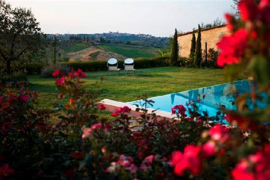 Aia Mattonata Relais: Siena from the pool
