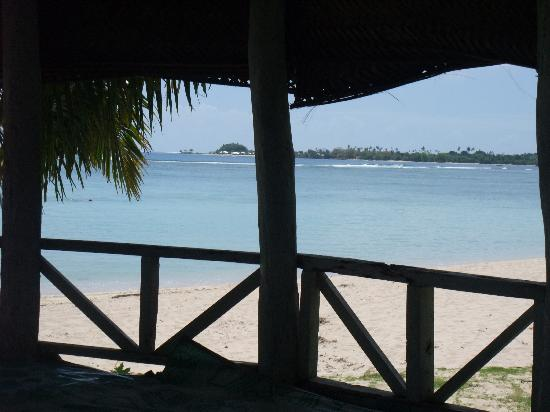 Tailua Beach Fales: View from my bed!