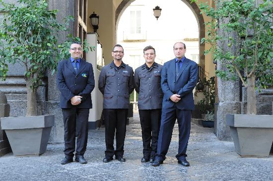 M Gallery Palazzo Caracciolo: Members of the magic team