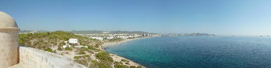 View from tower over Playa D&#39;en Bossa