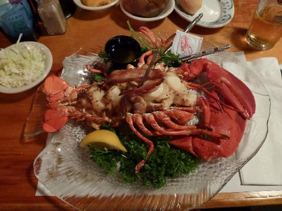 Stuffed baked Lobster - Picture of Mabel's Lobster Claw, Kennebunkport ...