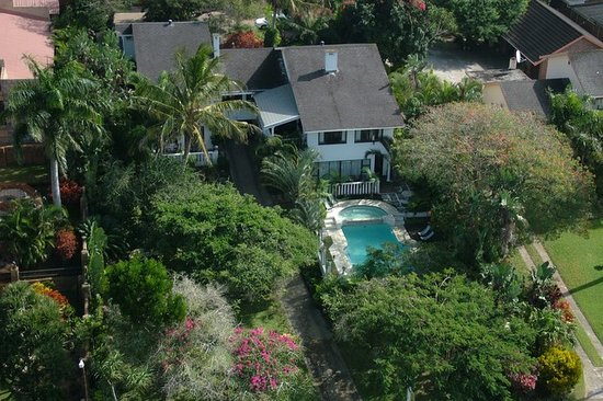 St. Lucia Wetlands Guesthouse: An arial view of our house