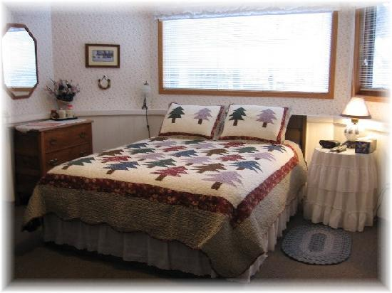 Homestead Bed & Breakfast: Queen Bed & Cozy Fireplace,TV