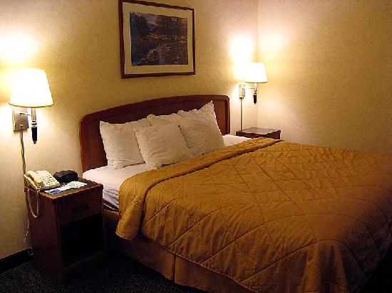 Sleep Inn & Suites Harrisonburg: Another view of the king bed and nightstands.
