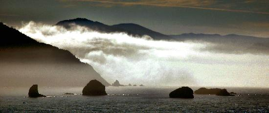 Castaway By the Sea: Port Orford from the Castaway motel.