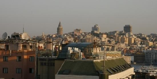 View from the roof at Hotel Prince, Istanbul