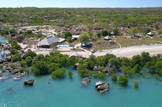 Aerial view of Kimberley Coastal Camp