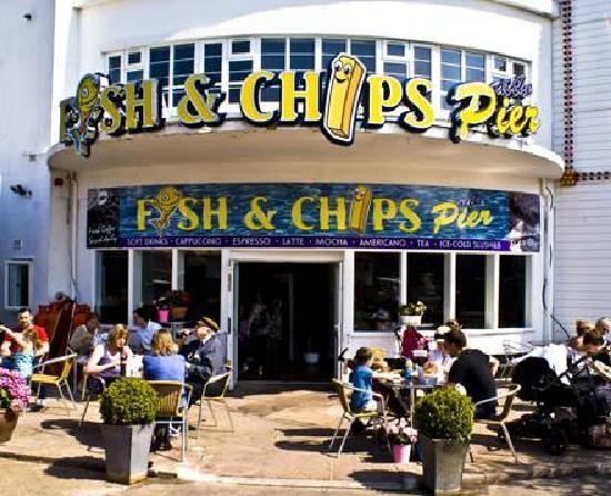 Clacton chips at pier picture of fish chips at the for Fish and chips restaurant near me