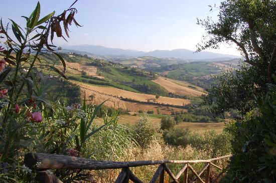 Colmurano, Italy: View from the house