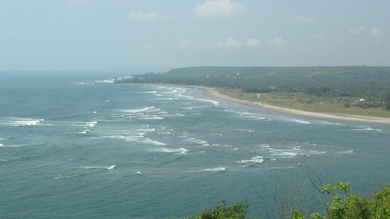 Bardez, India: Morjim beach view from the fort.