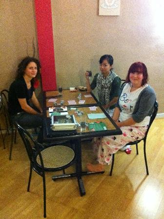 Hotel Ambassadeurs: card games time in hotel's lounge