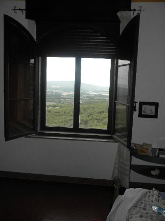 Villa Astreo: view from one of the windows in our room!