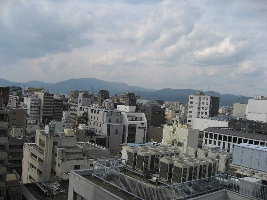 Karasuma Kyoto Hotel: View from our 12th floor room