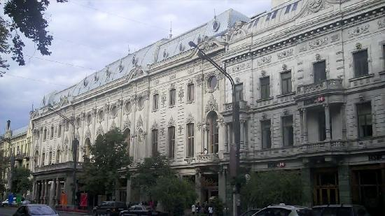 Building on Rustavelis Gamzin in Tbilisi, Georgia