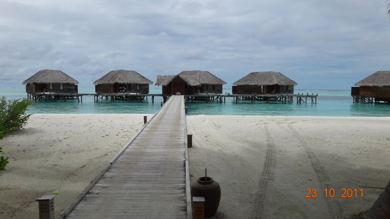Conrad Maldives Rangali Island: Bungalows on the small island