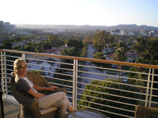 Mr. C Beverly Hills: view from our 8th floor room
