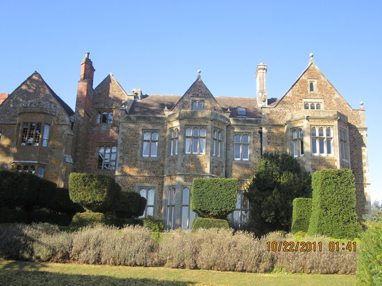 Side view of Fawsley Hall Hotel