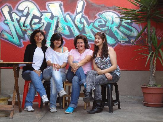 Hitchhikers Backpackers Lima Hostel: Despidiendonos