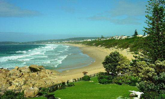 Plettenberg Bay, Sydafrika: Beautiful Robberg Beach as seen from the Beacon island Hotel