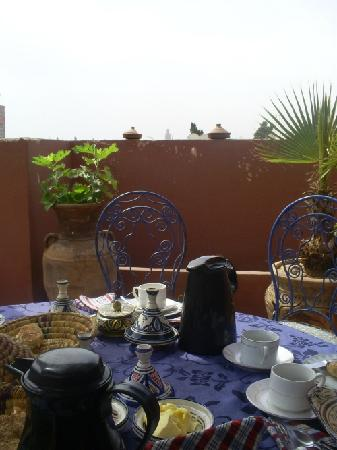 Dar Salam: Terrace with Fantastic view! Kotubia! I bilongst to Marrakesch!!!