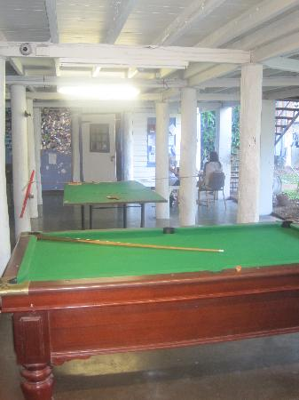 Reef Backpackers: The games area.