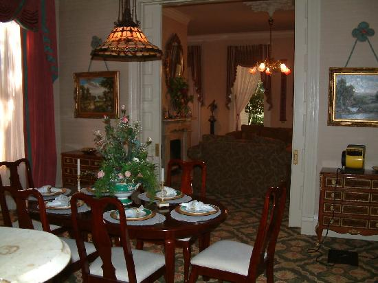 Devereaux Shields House: Main House Dining Room and Main Parlor