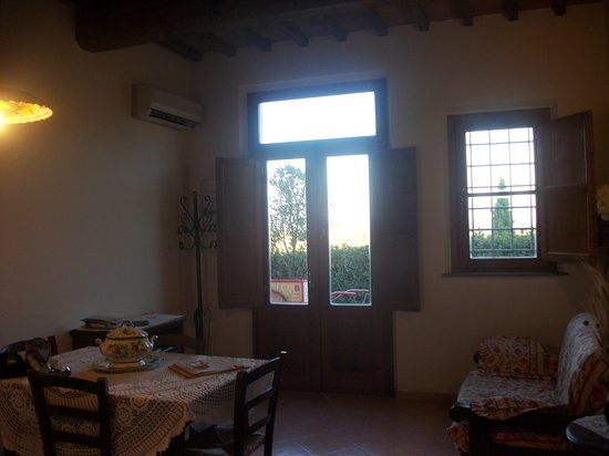 San Miniato, Italy: View from the kitchen
