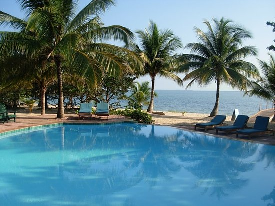 Hamanasi Adventure and Dive Resort : Hamanasi Belize - Pool &amp; Beach 