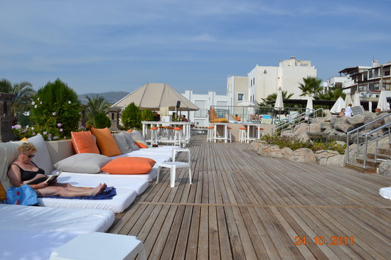 Diamond of Bodrum: sunbeds