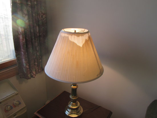 Atlantic House: broken lamp shade