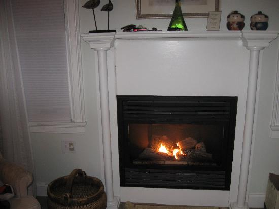 Brewster By The Sea : Fireplace in Refugio Suite