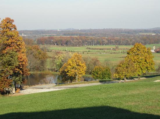 The Lodges at Gettysburg: View from back porch