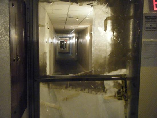 Elgin, IL: One of the MANY demolished hallways.