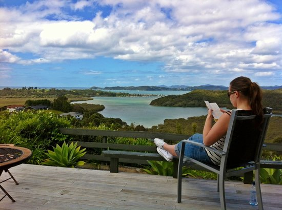 Cook's Lookout Motel: Relaxing with the amazing views