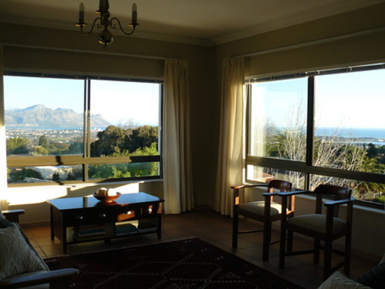Views from False Bay View guest lounge