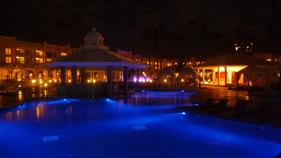 Iberostar Grand Hotel Bavaro: the pool and grounds all lit up at night