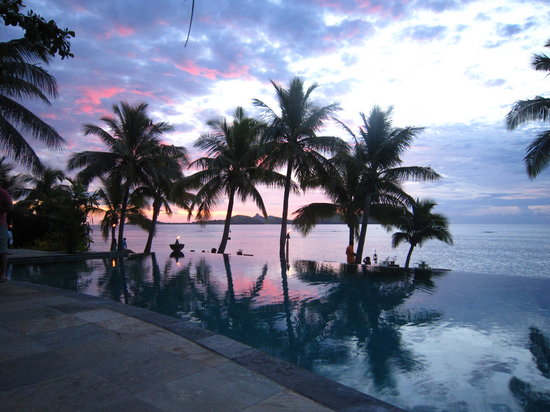 Tokoriki Island, Fiji: Sun set