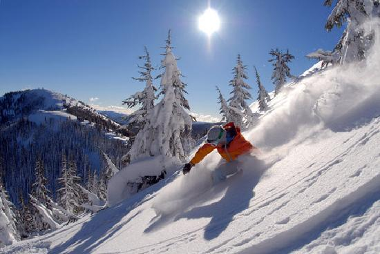 Idaho: Silver Mountan is famous for its champagne powder and short lift lines.