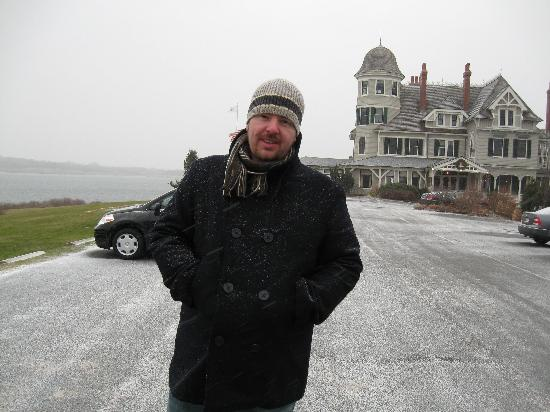 Castle Hill Inn: Me in the snow.