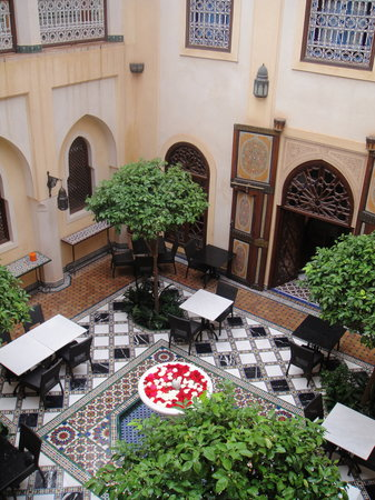 Riyad Al Moussika: Looking down at the central courtyard