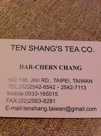 Ten Shang's Tea Co.,