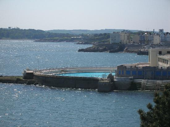 View of Plymouth Sound and the famous Tinside Lido