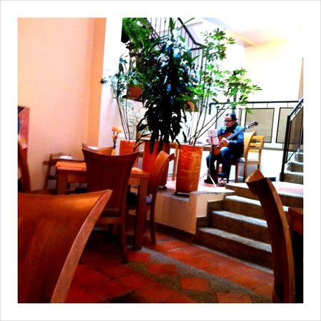 Hotel Casa Deco: Live music at breakfast