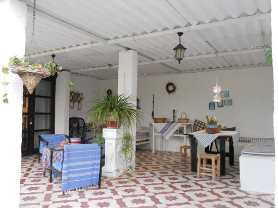Bakkhos Guesthouse: Our patio